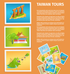 travel memories flat web banner vector image
