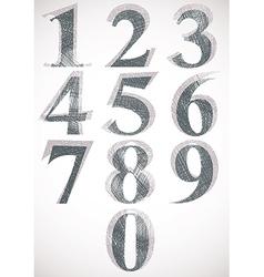 Vintage style numbers typeset vector image