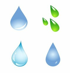 Water Drop Shapes Collection Icon Set vector