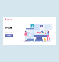 Web site gradient design template software vector