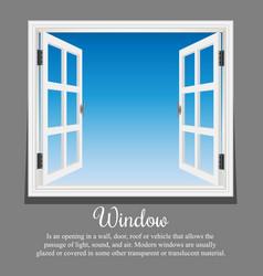 window architecture vector image