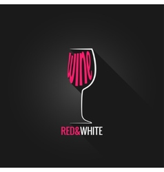 wine glass design background vector image