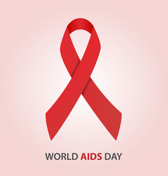 World aids day red ribbon breast cancer vector