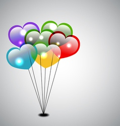 colorful heart balloons vector image vector image