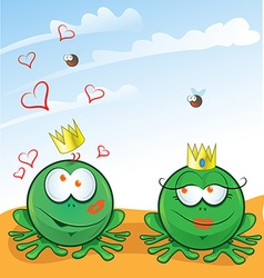 couple frog vector image vector image