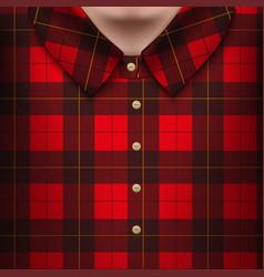plaid shirt on man body vector image
