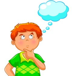 thinking boy vector image