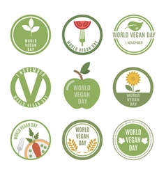 Vegan Day vector image vector image