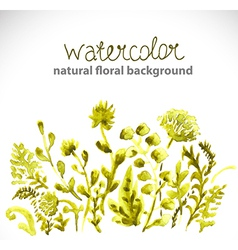 Watercolor beautiful green background vector