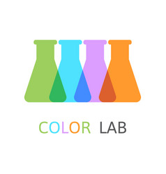 chemical laboratory flasks vector image