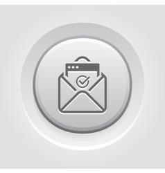 Confirmation letter icon grey button design vector