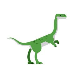 cute cartoon hypsilophodon dinosaur vector image vector image