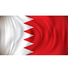 Flag of Bahrain vector image vector image