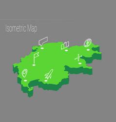 map switzerland isometric concept vector image vector image