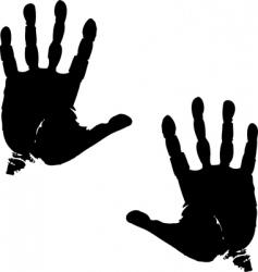 palm print vector image