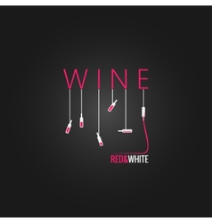 wine concept design background vector image vector image