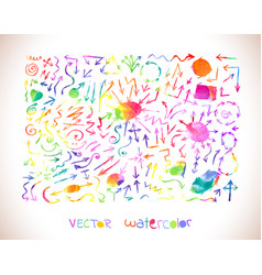 arrow icons set rainbow colors collection vector image vector image