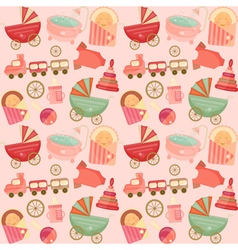 Baby Shower Seamless Background vector image