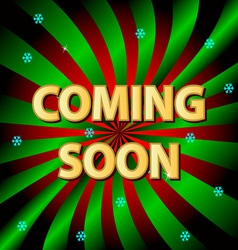 Coming soon background vector image