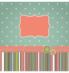 greeting retro design card vector image