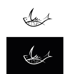 set of fish sign vector image vector image