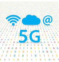 5g speed wireless internet network vector image