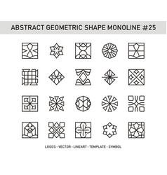 abstract geometric shape monoline 25 vector image
