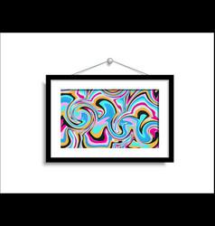 Abstract paintings hang on wall art vector