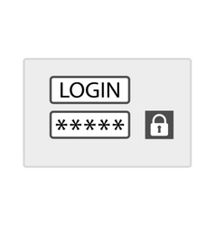 Account login screen vector image