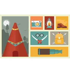 Adventure and traveling vector