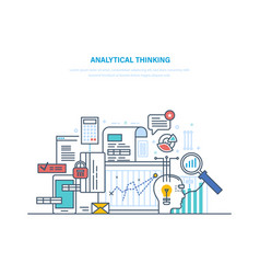 Analytical thinking logical analysis reasoning vector