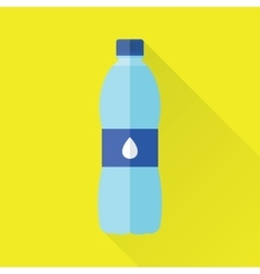 Bottle of Fresh Water Flat Icon vector image