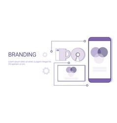 branding business creative development concept web vector image
