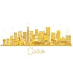 Cairo egypt city skyline golden silhouette vector
