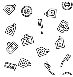 car accessories tool seamless pattern vector image