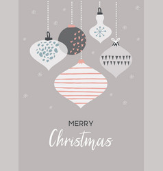 christmas poster and card template with retro vector image