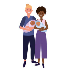 couple carrying babys vector image
