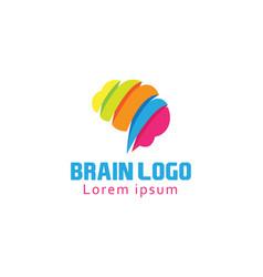 Creative brain logo color brain logo vector