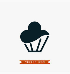 cupcake icon simple food vector image