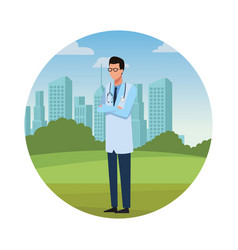 Doctor jobs and professions avatar vector