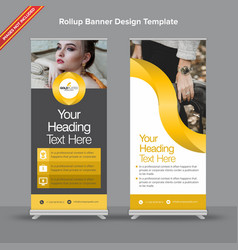Elegant black and gold rollup banner vector
