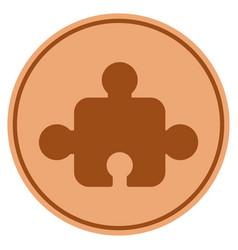 Element bronze coin vector