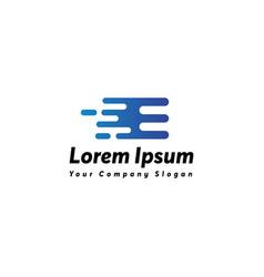 Fast letter e logo icon design vector