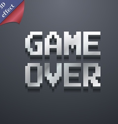 Game over concept icon symbol 3D style Trendy vector