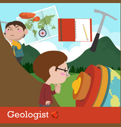 geologist occupation vector image
