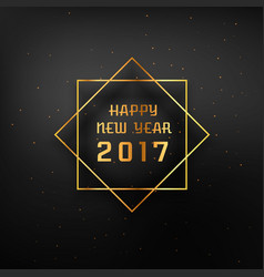 golden frame with 2017 happy new year text vector image