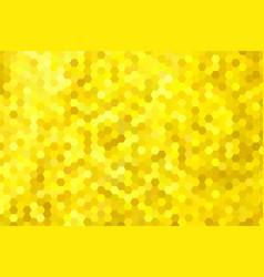 Golden yellow hexagon background vector