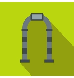 Gray arch icon flat style vector image