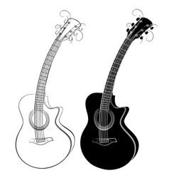 Guitar sketch vector