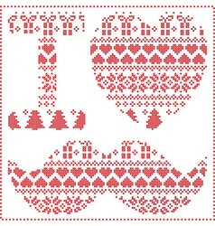 I love hipster pattern vector